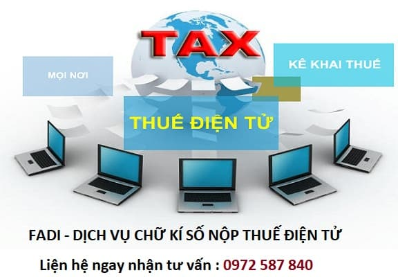 Dịch vụ chữ ký số nộp thuế điện tử