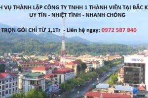 thành lập công ty TNHH 1 thành viên tại Bắc Kạn