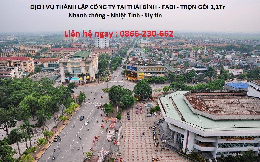 Dịch vụ thành lập công ty tại Thái Bình của FADI với nhiều ưu đãi